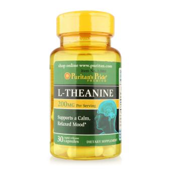 Viên uống giảm căng thẳng, cải thiện tinh thần L-theanine Puritan's Pride 30 viên 12881