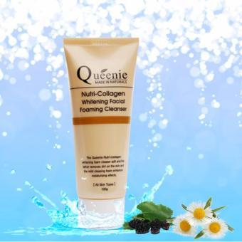 Sữa rửa mặt tạo bọt, trắng da, bổ sung Collagen Queenie 100g