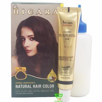 Thuốc nhuộm tóc phủ bạc dạng kem HICARA 3N 40g (Nâu Đen)