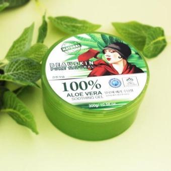 Gel dưỡng da đa năng chiết xuất 100% Lô hội Beauskin Aloe Vera Soothing GeL 100% 300g