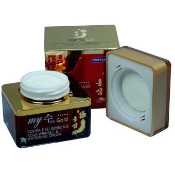 Kem dưỡng da hồng sâm làm trắng chống lão hóa My gold Korea Red Ginseng Aqua Wrinkle Whitening Cream 50ml