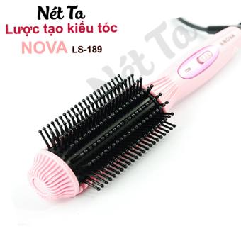 Lược tạo kiểu tóc đa năng Nova Ls-189 (Hồng) + Tặng 1 nhíp gắp mụn chuyên nghiệp