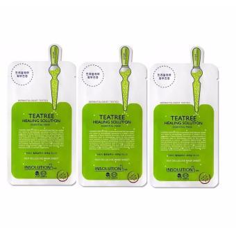 Bộ 3 Mặt nạ dưỡng da trị mụn chiết xuất trà xanh Mediheal Teatree Healing solution Essential Mask 25ml x3