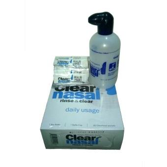 Bộ 1 chai + 30 gói muối khan giúp thông rửa mũi Nasopure Clear Nasal (Trắng)