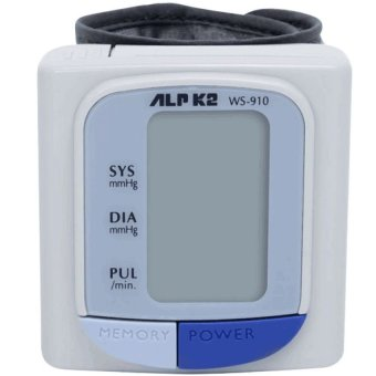 Máy đo huyết áp điện tử cổ tay ALPK2 WS-910 (Trắng)