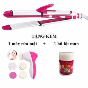 Máy uốn tóc SHINON 4in1 + Tặng 1 máy massage rửa mặt 5in1
