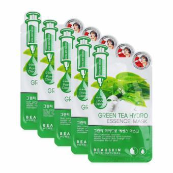 Bộ 5 Mặt nạ dưỡng da chiết xuất trà xanh Beauskin Green Tea Hydro Essence Mask