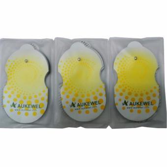 Bộ 3 Cặp Miếng Dán Máy Massage Xung Điện Hiệu Aukewel (Vàng)