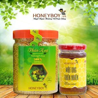 Bộ Mật ong thiên nhiên Honeyboy 100ml và Phấn hoa thiên nhiên 250g