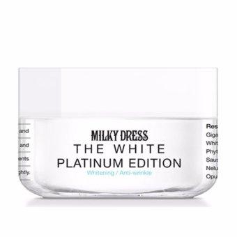 Kem làm trắng da tức thì Milky Dress The White Platinum Edition 50ml