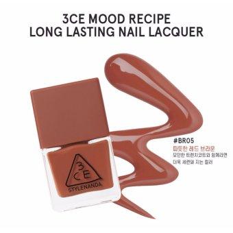 Sơn Móng Tay 3CE Stylenanda Long Lasting Nail Lacquer 10ml #BR05 Cam Gạch