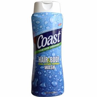 Sữa tắm gội cho nam Coast Hair and Body Wash 532ML Nhập Khẩu Mỹ