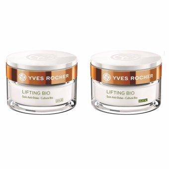 Bộ kem dưỡng chống lão hóa ngày và đêm Yves Rocher ANTI-WRINKLE CREAM BIO P50