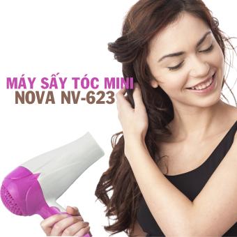Máy sấy tóc mini tiện lợi Nova 623 (Hồng)