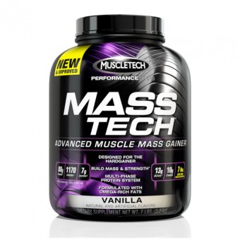 Bột Protein Muscle Tech Mass Tech Performance Series vị Vanilla 3.1kg