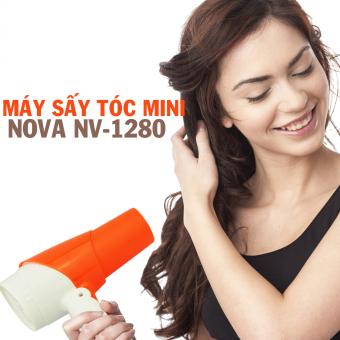 Máy sấy tóc du lịch có thể gấp gọn tiện lợi Nova 1280 (Cam)