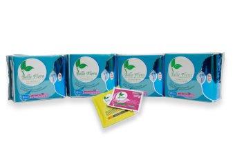 Bộ 4 gói băng vệ sinh ban đêm cotton BELLE FLORA Gói 10 miếng