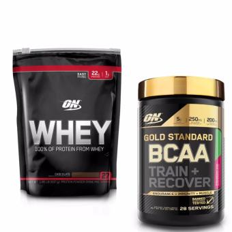 Bộ ON Whey 1.85 lb Chocolate + ON Gold Standard BCAA 280gr Strawberry Kiwi