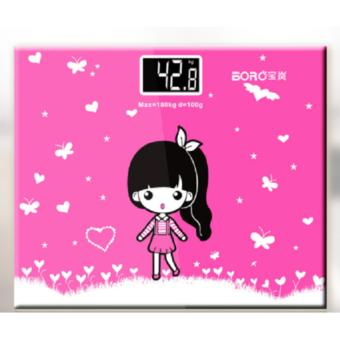 Cân điện tử mini màu hồng bear -AL
