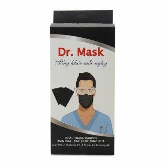 Khẩu trang y tế 4 lớp than hoạt tính xuất khẩu Dr. Mask KT 04