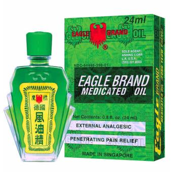 Dầu gió xanh hiệu con Ó Eagle Brand Medicated Oil 24m