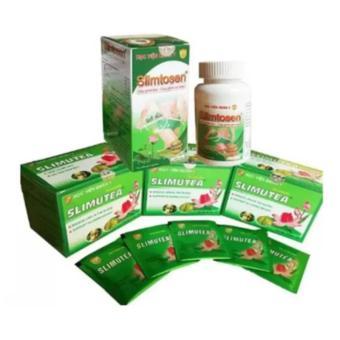 Liệu trình thảo dược giảm cân gồm 1 hộp thuốc Slimtosen & 2 hộp trà Slimutea Học viện Quân Y