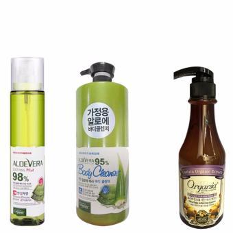 Bộ 1 chai xịt khoáng và 1 chai sữa tắm ORGANIA + Tinh chất dưỡng tóc Organia Quick Volume Wear Olive Triple Action Hair Essence 500g