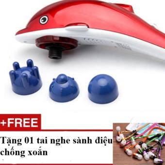 Máy Massage Lưng 3 Đầu Cầm Tay Cá Heo + Tặng 01 Tai Nghe