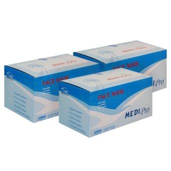 Bộ 3 hộp khẩu trang y tế Medi Pro 3 lớp hộp 50 cái x 3
