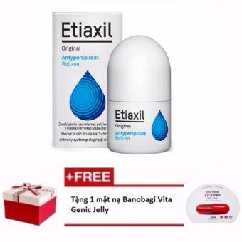 Lăn khử mùi Etiaxil Original 15ml + Tặng 1 mặt nạ dưỡng chất Vita Genic Jelly Mask