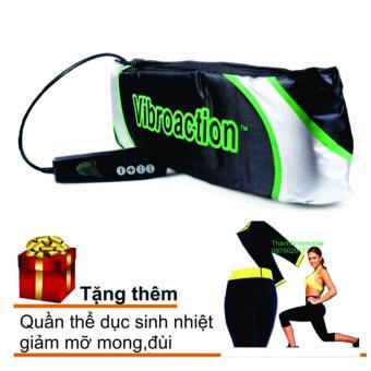 Đai massage thon gọn bụng Vibroaction + Quần tập thể dục sinh nhiệt giảm mỡ