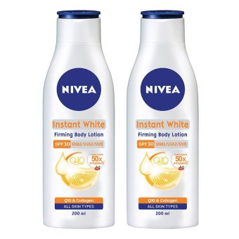 Bộ 2 Sữa dưỡng thể NIVEA Instant White SPF30PA+++ 200ml x 2