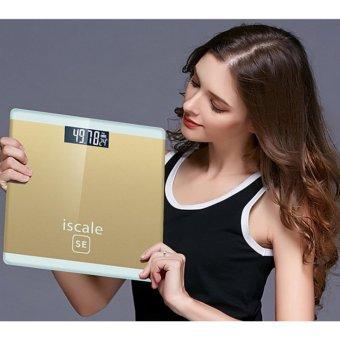 Cân sức khoẻ công nghệ cảm biến nhiệt độ ISCALE GocgiadinhVN- Vàng