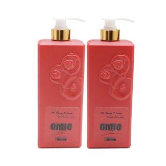 Mua Combo 2 chai sữa tắm OMIO chống nắng dưỡng da tinh chất hoa hồng 800ml (Đỏ) giá tốt nhất