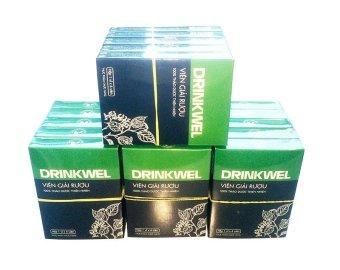 Bộ 20 hộp Viên giải rượu Vioba DRINKWEL vỉ 4 viên (Đen)