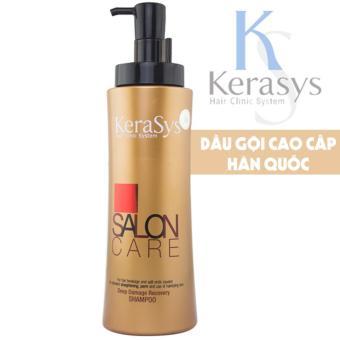 Dầu gội phục hồi và củng cố cấu trúc tóc Kerasys Salon Care Hàn Quốc 600ml