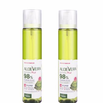 Bộ 2 Xịt Khoáng Organia White Good Nature Aloe Vera Soothing Gel Mist 98% 118ml