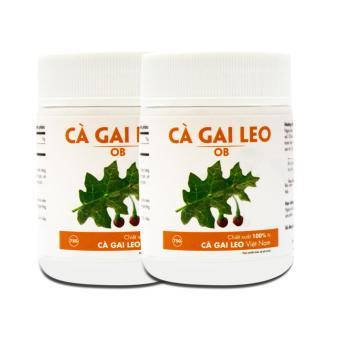 Bộ 2 hộp Cà Gai Leo OB giải độc, hỗ trợ điều trị viêm gan B 75g