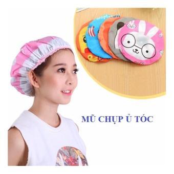 Mũ ủ tóc , chụp tóc bằng vải hoạt hình dễ thương