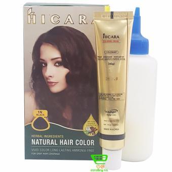 Thuốc nhuộm tóc phủ bạc dạng kem HICARA 1N 40g (Đen)