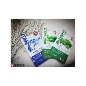 Bộ 3 Mặt Nạ Dưỡng Da Beauskin Hydro Essence Mask ( Green Tea - Aqua Hydro - Aloe)