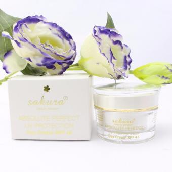 Kem trị nám dưỡng trắng da ban ngày Sakura Absolute Perfect UV Protection Day Cream SPF45 30g (Trắng)