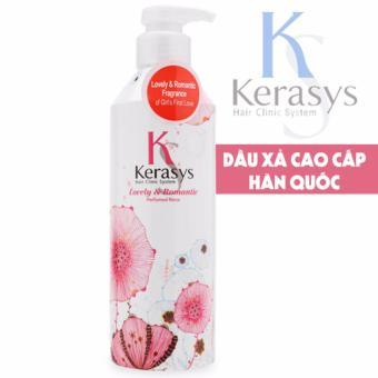Dầu xả nước hoa cung cấp dưỡng chất cho tóc bóng mượt KeraSys lovely & Romantic Cao cấp Hàn Quốc 600ml - Hàng Chính Hãng