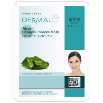 Mặt nạ dưỡng da tinh chất lô hội Dermal Aloe Collagen Essence Mask 23g