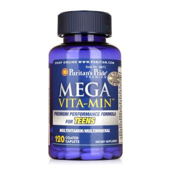 Viên uống vitamin tổng hợp và khoáng chất cần thiết cho teen Puritan's Pride Mega Vita Min 120 viên