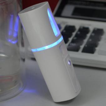 Máy xông mặt Mini cầm tay đính đá, pin xạc DS018 (Trắng)