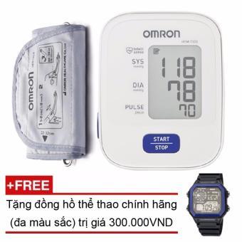 Máy đo huyết áp bắp tay Omron HEM-7120 + Tặng đồng hồ thể thao