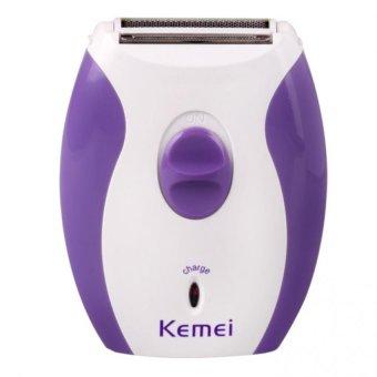 Máy cạo lông tay chân nách mini KEMEI KM-280R (trắng phối tím)