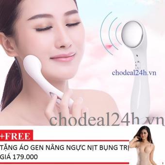 Máy massage mặt DS-039 bằng ion (Trắng) + Tặng Áo gen nâng ngực nịt bụng