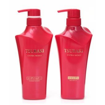 Bộ Dầu Gội Và Dầu Xả Shiseido Tsubaki Extra Moist (Đỏ)